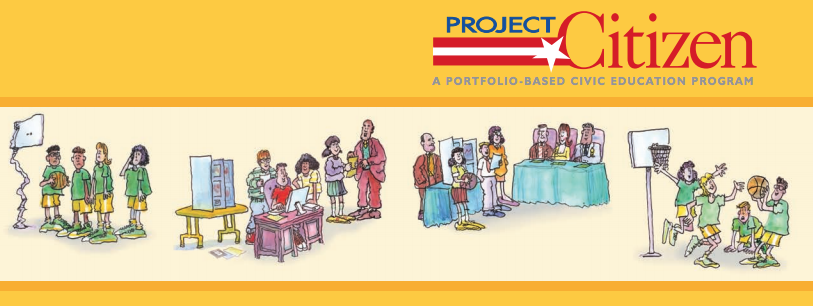 Picture of the cover of the Project Citizen brochure