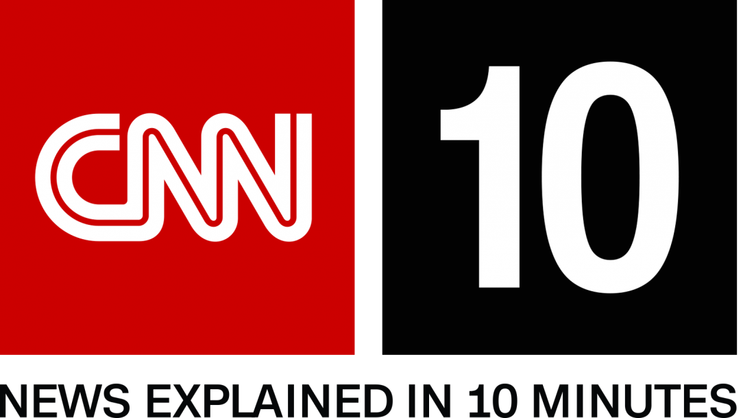 "Logo for CNN10, including the text, ""News explained in 10 minutes."""