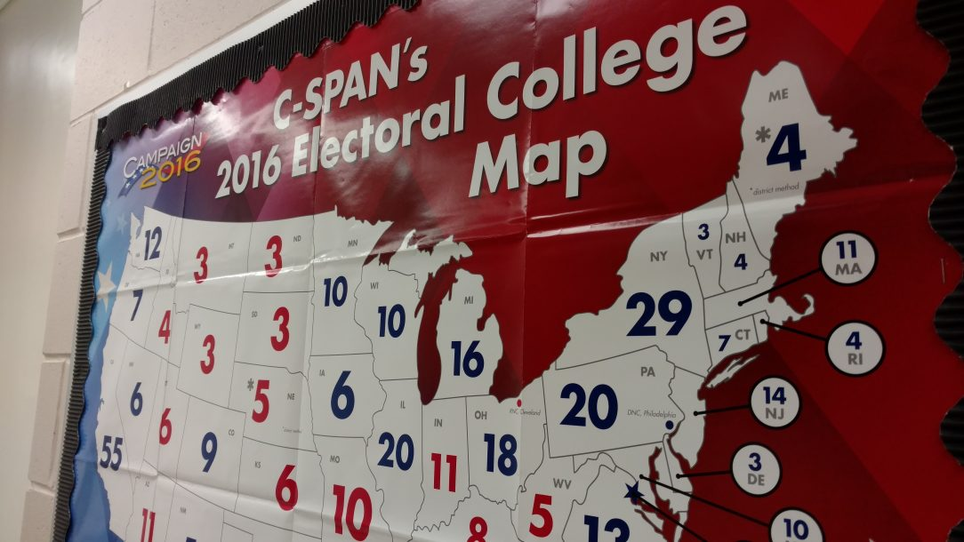 Electoral college map of 2016 and previous elections by C-SPAN's Education Department