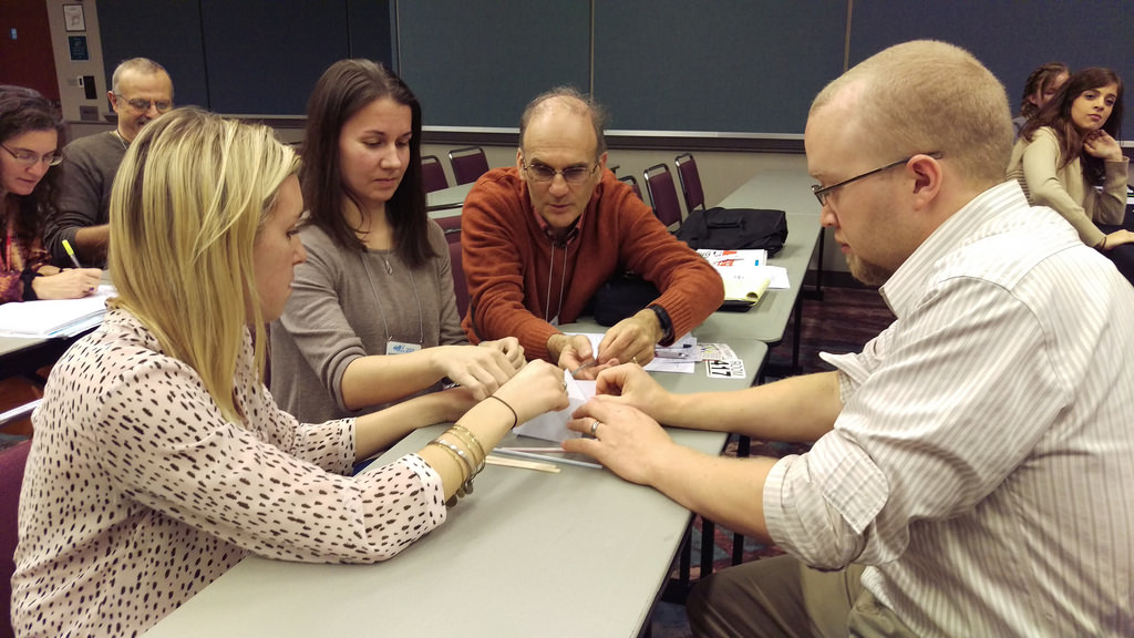 Teachers learning together at a session during the NJEA Convention