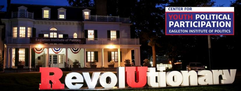 "Picture of the Eagleton Institute of Politics and the CYPP Logo with ""Revolutionary"" in front."