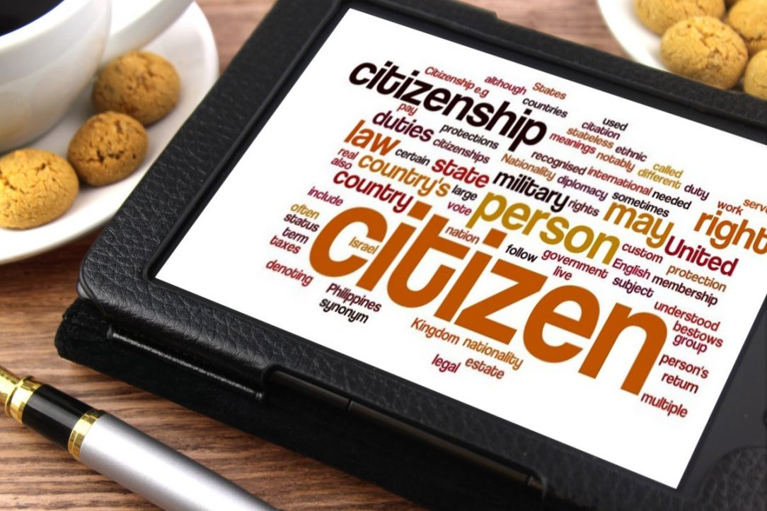 A wordcloud about citizenship