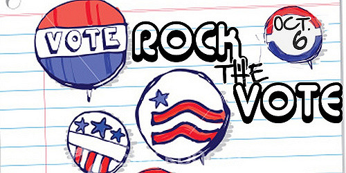 A Rock the Vote logo design