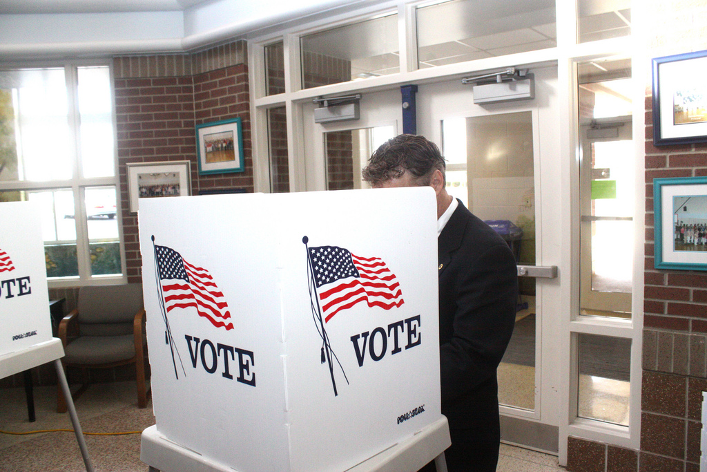 Rand Paul at the Voting Booth. Should voting be required?