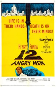 Movie poster for the original 12 Angry Men, starring Henry Fonda.