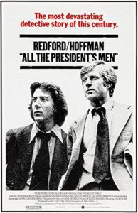 All the President's Men movie poster, a class movie about government, politics, and the media.