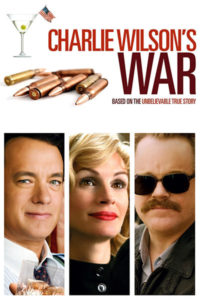 Charlie Wilson's War poster, a movie about government and foreign policy.