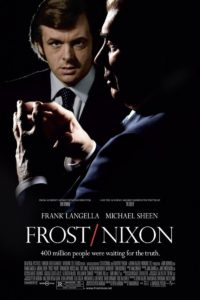 Movie poster for Frost / Nixon, starring Frank Langella and Michael Sheen.