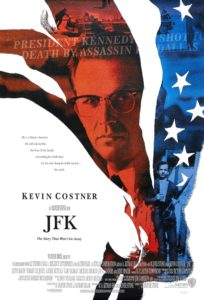 Movie poster for JFK, a great movie about politics and government.