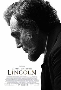 Lincoln movie poster, starring Daniel Day-Lewis.
