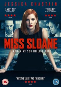 Movie poster for Miss Sloane, a great movie about civics.