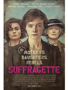 Movie poster for Suffragette, a government movie about the British suffrage movement
