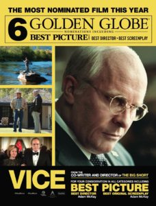 Vice poster, a new movie about government.
