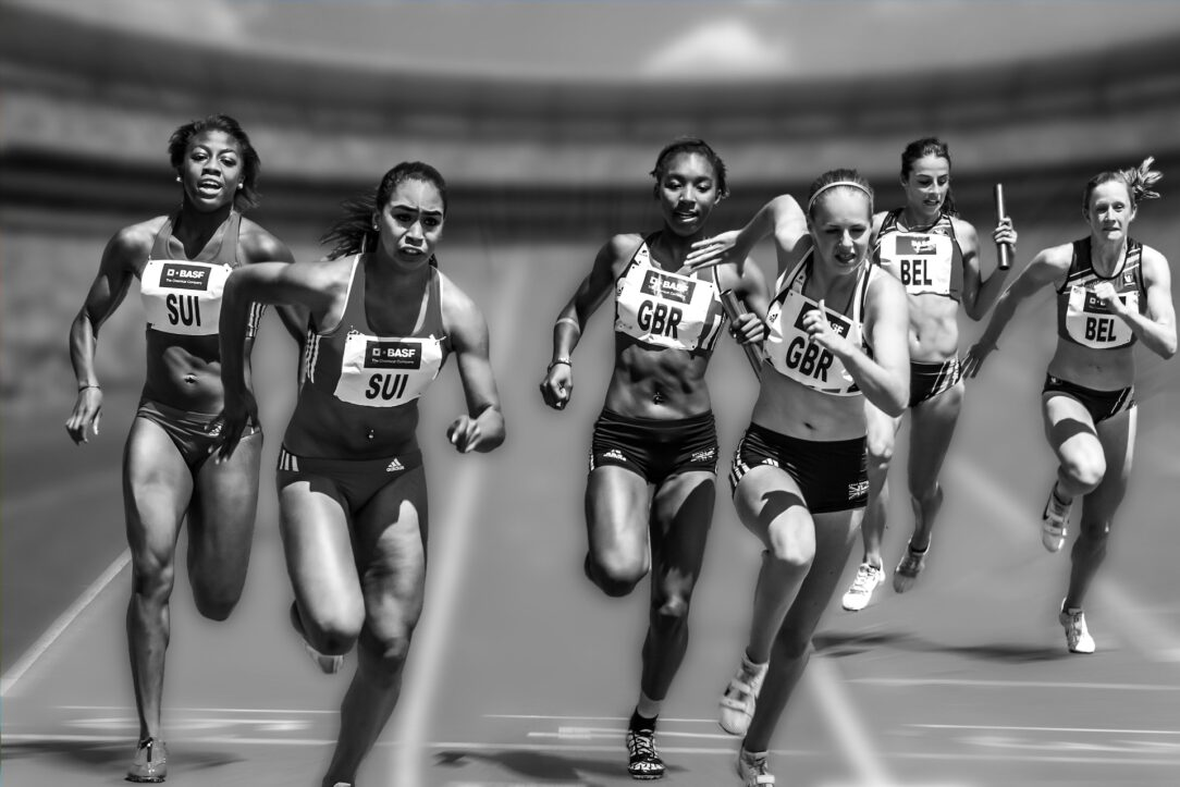 "Six female runners compete in a relay race. This is what comes to mind when I hear, ""The Civics Games."" The Olympics."